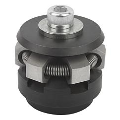 Centring clamps with hex segments