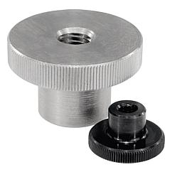 Knurled nuts highsteel and stainless steel, DIN 466