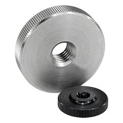 Knurled nuts flatsteel and stainless steel, DIN 467
