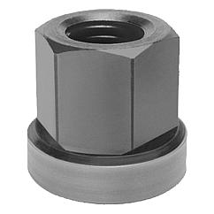 Hexagon nuts with no-loss washer