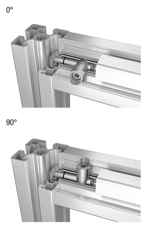 Norelem juegos de uni n centrales tipo b for Uniones para perfiles cuadrados de aluminio