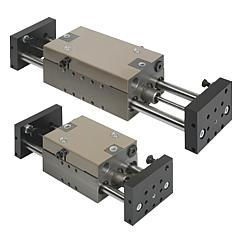 Linear modules pneumatic with two round guides