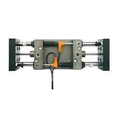 Linear modules pneumatic with three round guides