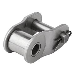 Links stainless steel DIN ISO 606, Form L