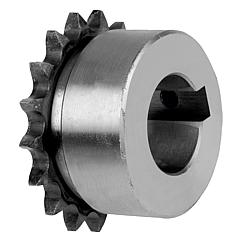 "Sprockets single 3/8"" x 7/32"" DIN ISO 606, ready to install Form B"