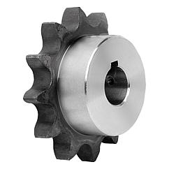 "Sprockets single 1"" x 17.02 mm DIN ISO 606, ready to install"