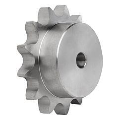 "Sprockets single 1"" x 17.02 mm stainless steel DIN ISO 606"