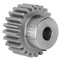 Spur gears in steel, module 2toothing milled, straight teeth, engagement angle 20°