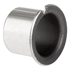 Plain bearings with collar
