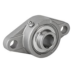 Pillow block bearing flange type MUCF 2-hole stainless steel