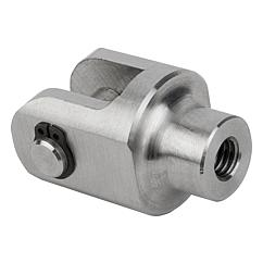 Clevis joints for rod ends stainless steel