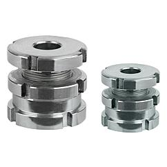 Levelling sets low version with locknut