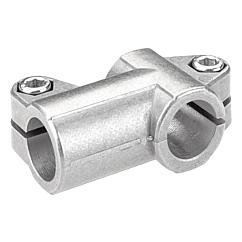 Tube clamps T-angle, aluminium