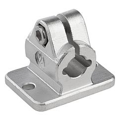 Tube clamps flange, stainless steel