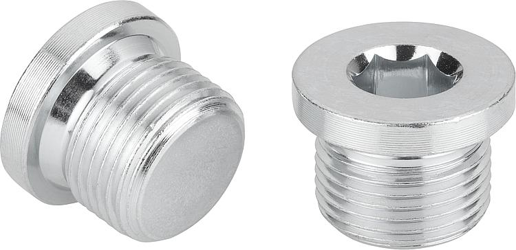 norelem - Screw plugs with collar and hexagon socket DIN 908