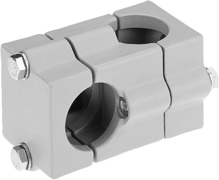 Norelem tube clamps cross aluminium