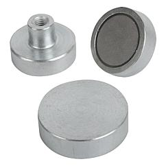 Magnets shallow pot SmCo