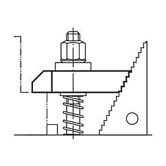 Clamp strapsstepped-heel, steel or aluminium