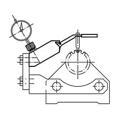Measuring element for gear wheels