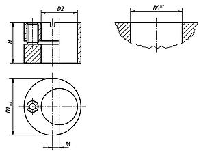 Offset bushes for lateral spring plungers