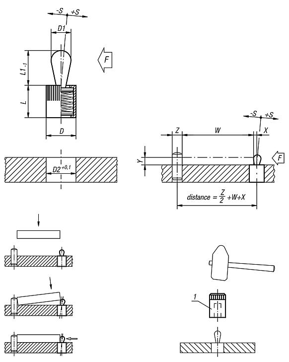 Lateral spring plungers with seal, thrust pin and spring steel