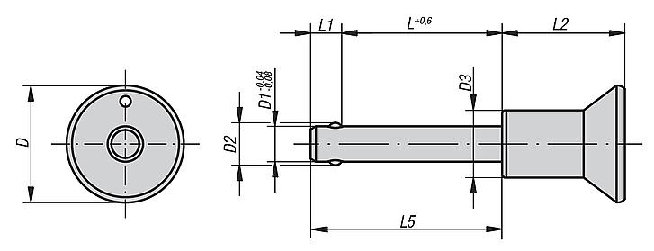 Ball lock pins self-locking, stainless steel