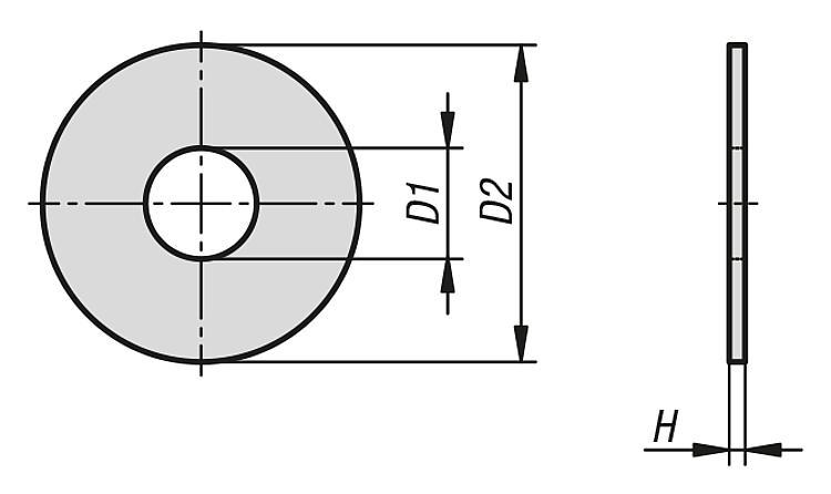 M6 RONDELLE RONDELLA piatta Zinco Quantità 28 12mm EXT DIAMETRO 7mm diametro int