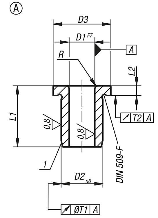 DIN 172 kurz Ø 9,0 mm BLOHM Bohrbuchse Form A