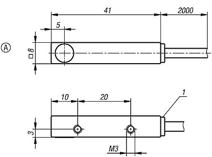 Inductive proximity switches, Form A