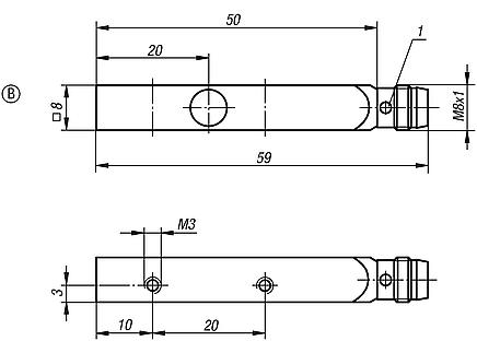 Inductive proximity switches, Form B