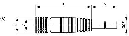 Plug connectors with screw fitting, Form A