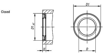 Attachment seals double-lip sealing rings, closed