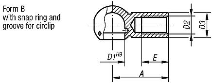Ball seats for ball joints DIN 71805, Form B