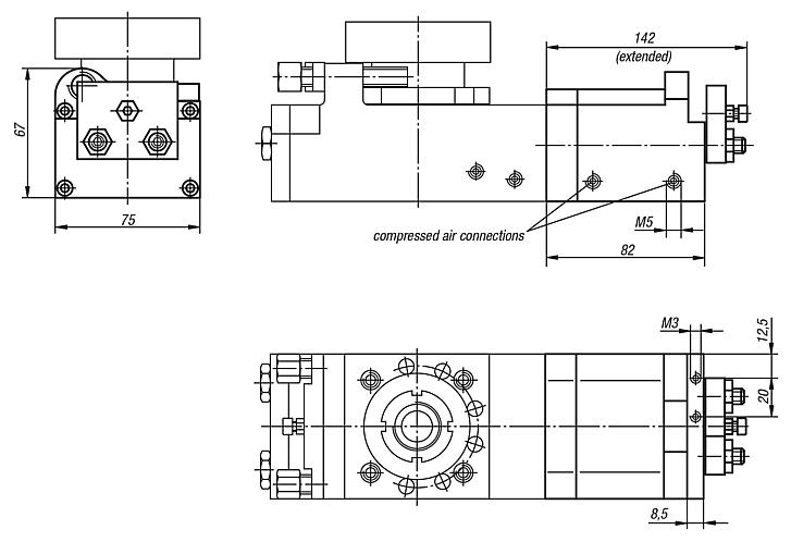 Intermediate positionfor rotary module 20062-026