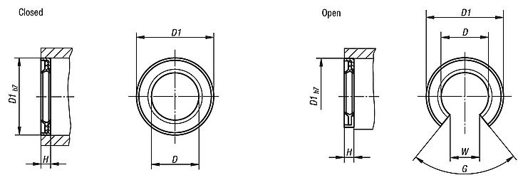 End seals double-lip sealing rings