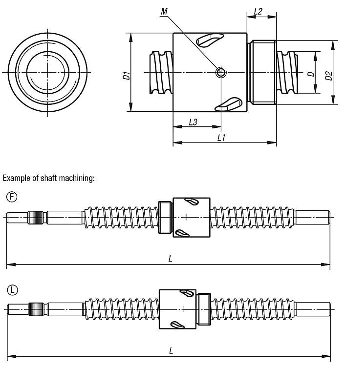 Ball Screw Linear Actuators Rolled With Screwin Cylinder Nut: Din Plug Wiring Diagram Linear Actuator At Eklablog.co