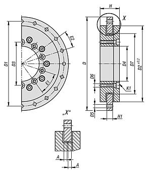 Plain bearing for rotary stages