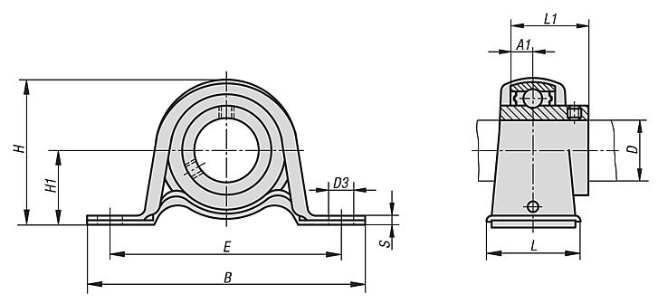 Pillow block bearing pedestal type BPP