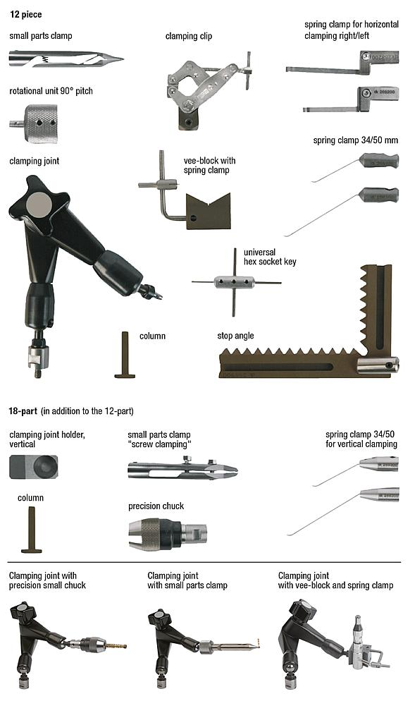 Clamping component set