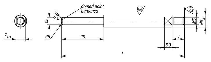 Probe with reduced domed point