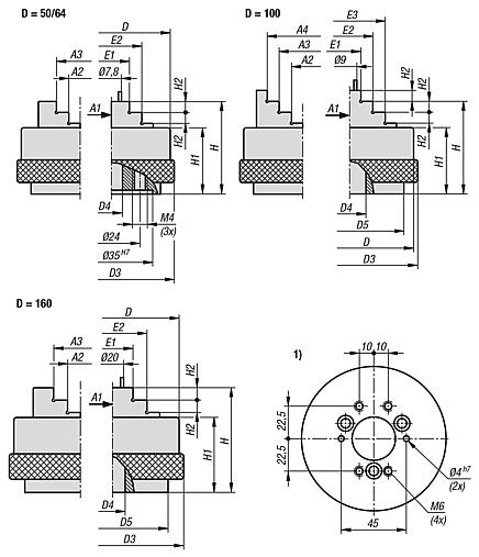 Precision three-jaw chuck manual operation