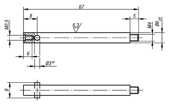 Extension for probe inserts