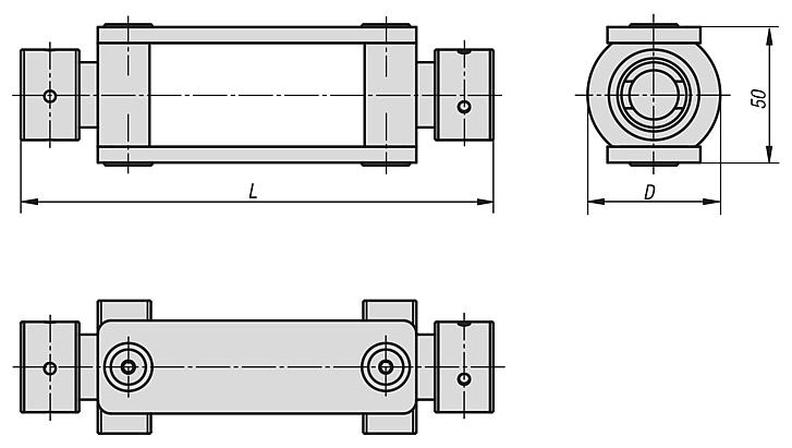Couplings for cross-clamping