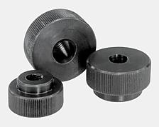 Knurled nut with toggle clamp