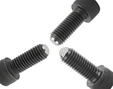 Ball-end thrust screw and button head screw