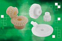 Plastic spur and bevel gears are new to the norelem range - they are a light but robust alternative to the steel versions.