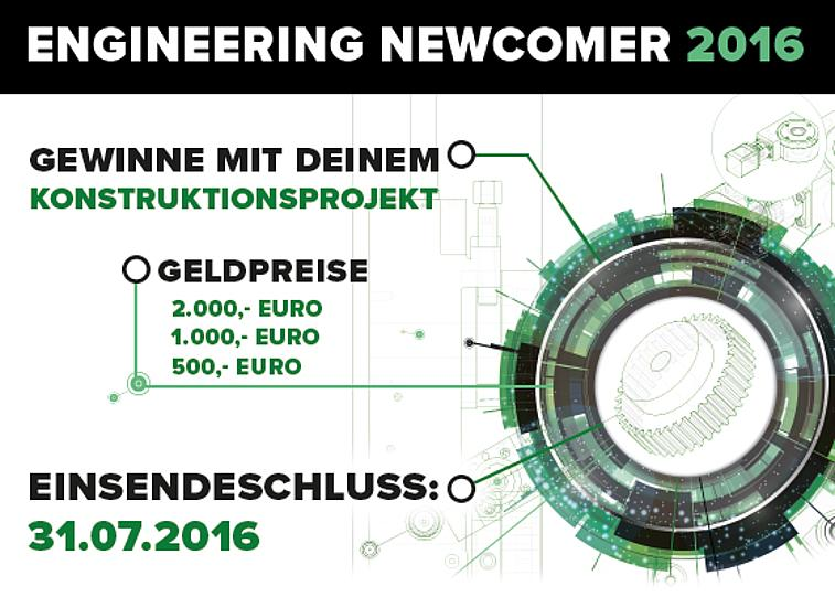 Engineering Newcomer 2016 – apply with your project now